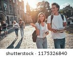 group of young people are... | Shutterstock . vector #1175326840