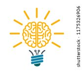 bulb with human brain ... | Shutterstock .eps vector #1175326906