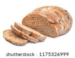 cutted rye round bread isolated ... | Shutterstock . vector #1175326999