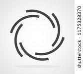 focus icon. vector illustration.... | Shutterstock .eps vector #1175328370