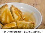 weathered vanilla ice cream on... | Shutterstock . vector #1175328463