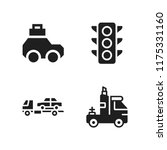 highway icon. 4 highway vector... | Shutterstock .eps vector #1175331160