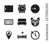 sleep icon. 9 sleep vector... | Shutterstock .eps vector #1175331343