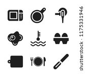 cooking icon. 9 cooking vector... | Shutterstock .eps vector #1175331946