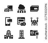 wireless icon. 9 wireless...   Shutterstock .eps vector #1175332096