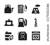 gas icon. 9 gas vector icons... | Shutterstock .eps vector #1175332186