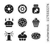 cake icon. 9 cake vector icons... | Shutterstock .eps vector #1175332276