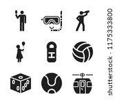leisure icon. 9 leisure vector... | Shutterstock .eps vector #1175333800