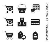 retail icon. 9 retail vector...   Shutterstock .eps vector #1175334550