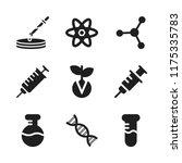 biology icon. 9 biology vector... | Shutterstock .eps vector #1175335783