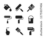 painter icon. 9 painter vector... | Shutterstock .eps vector #1175337406