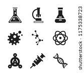 biology icon. 9 biology vector... | Shutterstock .eps vector #1175338723