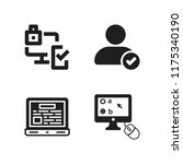pc icon. 4 pc vector icons set. ... | Shutterstock .eps vector #1175340190
