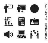 seminar icon. 9 seminar vector... | Shutterstock .eps vector #1175340799