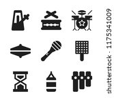 beat icon. 9 beat vector icons... | Shutterstock .eps vector #1175341009