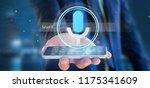 view of a businessman holding a ... | Shutterstock . vector #1175341609