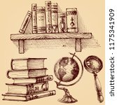 books and education set.  a...   Shutterstock .eps vector #1175341909