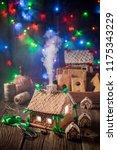 closeup of christmas... | Shutterstock . vector #1175343229