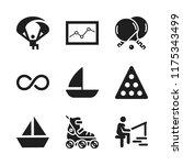 leisure icon. 9 leisure vector... | Shutterstock .eps vector #1175343499