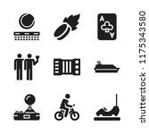 leisure icon. 9 leisure vector... | Shutterstock .eps vector #1175343580