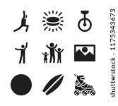 recreation icon. 9 recreation... | Shutterstock .eps vector #1175343673