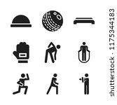 sportswear icon. 9 sportswear... | Shutterstock .eps vector #1175344183