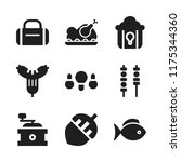 roasted icon. 9 roasted vector... | Shutterstock .eps vector #1175344360