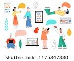 vector illustration set of... | Shutterstock .eps vector #1175347330