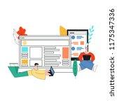 vector illustration of social... | Shutterstock .eps vector #1175347336