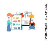 vector illustration of social... | Shutterstock .eps vector #1175347339
