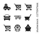 wheel icon. 9 wheel vector... | Shutterstock .eps vector #1175347666