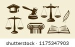 justice set of icons. lawyer ... | Shutterstock .eps vector #1175347903