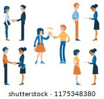 vector job interview and career ... | Shutterstock .eps vector #1175348380