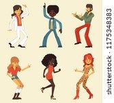 vector illustration set of...   Shutterstock .eps vector #1175348383