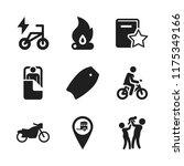 leisure icon. 9 leisure vector... | Shutterstock .eps vector #1175349166