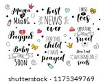 pregnancy mama mother preggers...   Shutterstock .eps vector #1175349769
