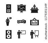 seminar icon. 9 seminar vector... | Shutterstock .eps vector #1175351149