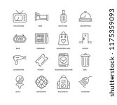 set of 16 simple line icons...   Shutterstock .eps vector #1175359093