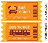 bus ticket. flat vector. | Shutterstock .eps vector #1175359333