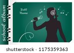 template of a school album  in... | Shutterstock .eps vector #1175359363