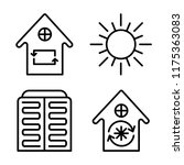 set of 4 vector icons such as... | Shutterstock .eps vector #1175363083