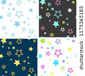 collection of bright seamless... | Shutterstock .eps vector #1175365183