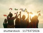 countries friendship concept.... | Shutterstock . vector #1175372026