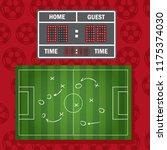 floodlighting soccer field... | Shutterstock . vector #1175374030