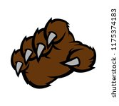 grizzly bear claw vector... | Shutterstock .eps vector #1175374183