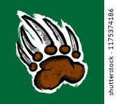 grizzly bear claw vector... | Shutterstock .eps vector #1175374186