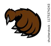 grizzly bear claw vector... | Shutterstock .eps vector #1175374243