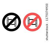 video ban  prohibition icon....