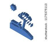 sunbed isometric left top view...   Shutterstock .eps vector #1175375113