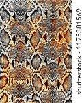 reptile or snake skin pattern... | Shutterstock .eps vector #1175381569